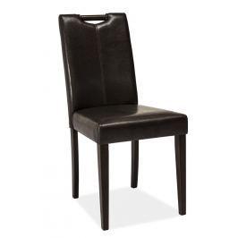 Jídelní čalouněná židle CD-76, wenge/tmavě hnědá
