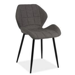 Jídelní čalouněná židle HALS, šedá