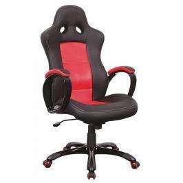 Kancelářské křeslo Q-029, černá a červená ekokůže