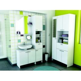 CORALIE 2, koupelnová sestava BEZ UMYVADLA, bílá 2, koupelnová sestava BEZ UMYVADLA, bílá