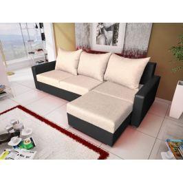 Rohová sedačka MALAGA BIS 5, béžová látka/grafitová ekokůže