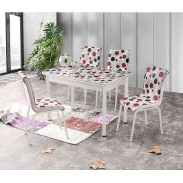Jídelní stůl rozkládací STANBUL 4, 110/170x70 cm, vícebarevný