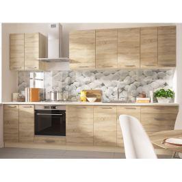Kuchyně SILVER+ 310/250 cm, korpus: jersey, barva: sonoma