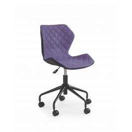 Dětská židle MATRIX, černá/fialová