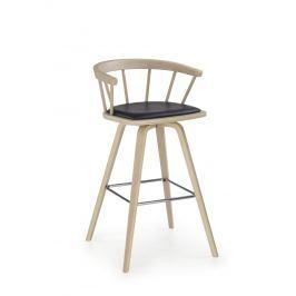 Barová židle H78, buk/černá