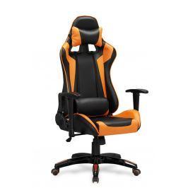 Kancelářské křeslo DEFENDER, černá/oranžová