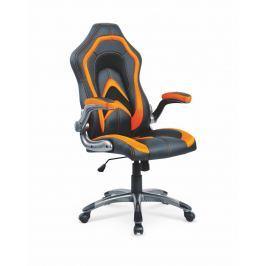 Kancelářské křeslo COBRA, černá/oranžová