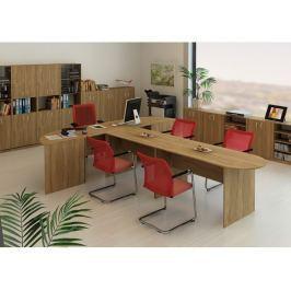TEMPO AS, kancelářská sestava 5, bardolino tmavé