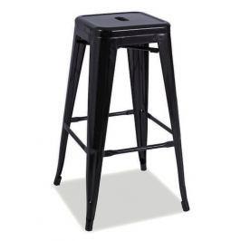 Barová židle LONG, černá mat