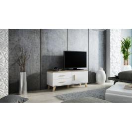 LOTTA televizní stolek RTV 120 1D2S, bílá/dub sonoma