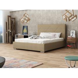 Čalouněná postel SOFIE 5 140x200 cm s roštem, béžová látka