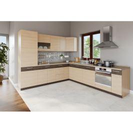 Rohová kuchyně MODENA 275x300, rijeka světlá