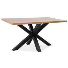 Jídelní stůl CROSS 180x90, dýha dub/černá
