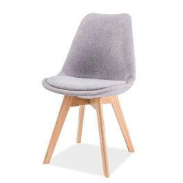 Jídelní židle DIOR, dub/světle šedá