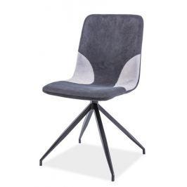 Jídelní čalouněná židle ENRICO, šedá