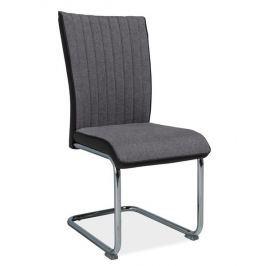 Jídelní čalouněná židle H-930, šedá/tmavě šedé boky