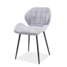 Jídelní čalouněná židle HALS, světle šedá