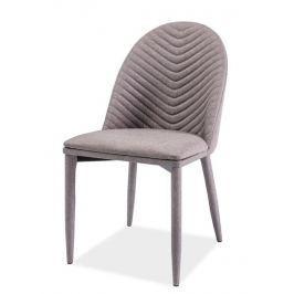 Jídelní čalouněná židle LUCIL, šedá