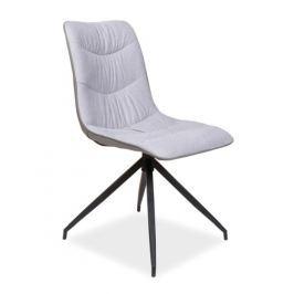 Jídelní čalouněná židle MALUS, šedá
