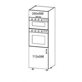 SOLE vysoká skříň DPS60/207O levá, korpus šedá grenola, dvířka bílý lesk