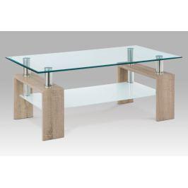 Konferenční stolek AF-1024 SON, dub sonoma/sklo