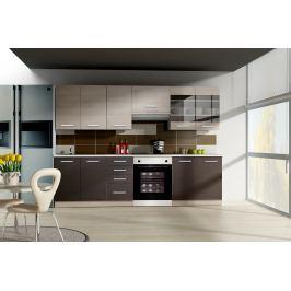 Kuchyně CHAMONIX, 180/240, dub Ferrara/legno tmavé