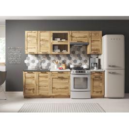 Kuchyně JAMAJKA 180/240 cm, korpus dub wotan, dvířka dub wotan