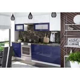 Kuchyně VALERIA 260, modrá/bílý lesk