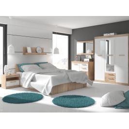 MAXIMUS ložnice 12, dub sonoma/bílý lesk