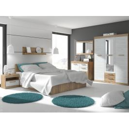 MAXIMUS ložnice 12, craft zlatý/craft bílý