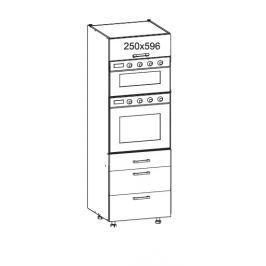 PLATE PLUS vysoká skříň DPS60/207 SAMBOX O, korpus ořech guarneri, dvířka světle šedá
