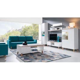OVIEDO obývací pokoj, bílá/dub san remo světlý