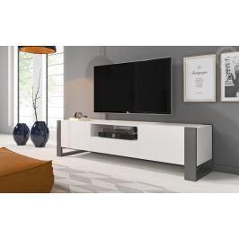 Televizní stolek NUKI, bílá/grafit