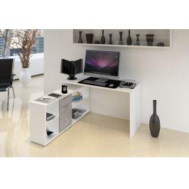 Počítačový stůl NOE NEW Tempo Kondela Bílá