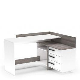 Počítačový stůl rohový TALE NEW bílá / dub trufel prata Tempo Kondela