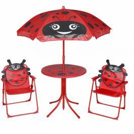 Dětský zahradní set se slunečníkem Dekorhome Červená