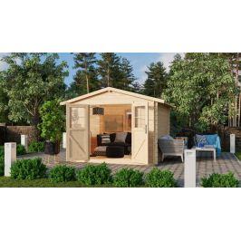 Dřevěný zahradní domek 297 x 297 cm Dekorhome