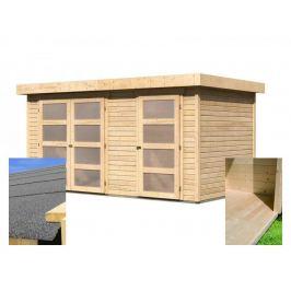 Dřevěný zahradní domek vč. podlahy 404 x 217 cm Dekorhome