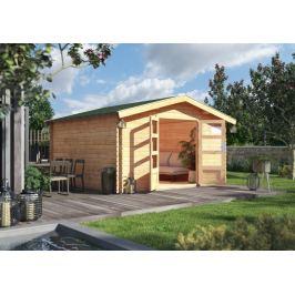 Dřevěný zahradní domek s podlahou 387 x 297 cm Dekorhome