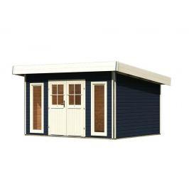 Dřevěný zahradní domek 369 x 309 cm Dekorhome Šedá