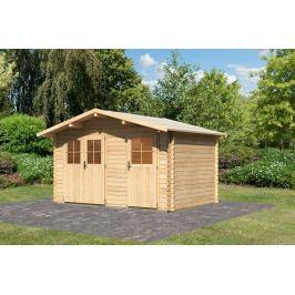 Dřevěný zahradní domek 387 x 253 cm Dekorhome