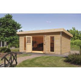 Dřevěný zahradní domek 494 x 375 cm Dekorhome