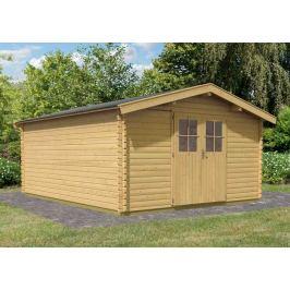 Dřevěný zahradní domek 387 x 477 cm Dekorhome