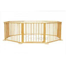 Dětská dřevěná ohrádka s brankou 8 dílná - Hometrade