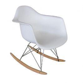 Houpací křeslo, bílá/buk, FAREL 0000191464 Tempo Kondela