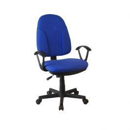 Kancelářská židle, modrá látka, DEVRI 0000191471 Tempo Kondela