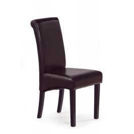 Jídelní židle NERO tmavě hnědá / wenge Halmar
