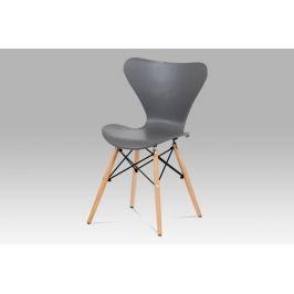 Jídelní židle šedý plast CT-742 GREY Autronic