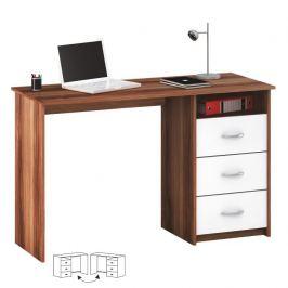 PC stůl, bílá/švestka, LARISTOTE 09025179 Tempo Kondela