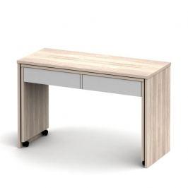 Psací stůl rozkládací VERSAL NEW sonoma / bílá Tempo Kondela